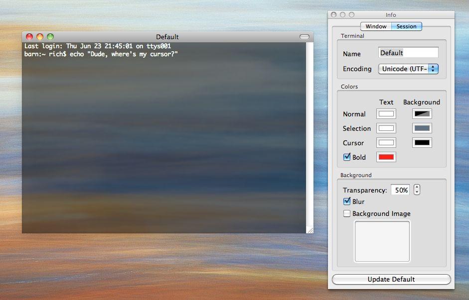 iTerm invisible cursor | richd me